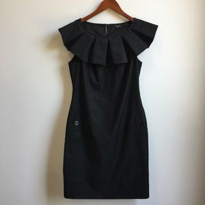 Ted Baker Ruffle Collar Sheath Dress with Pockets
